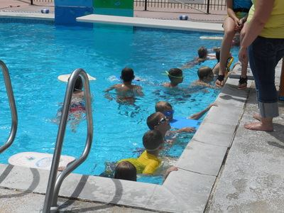 Group of Youth in Pool